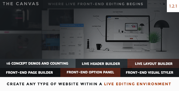 The Canvas – Multi-Purpose Live Editing Theme