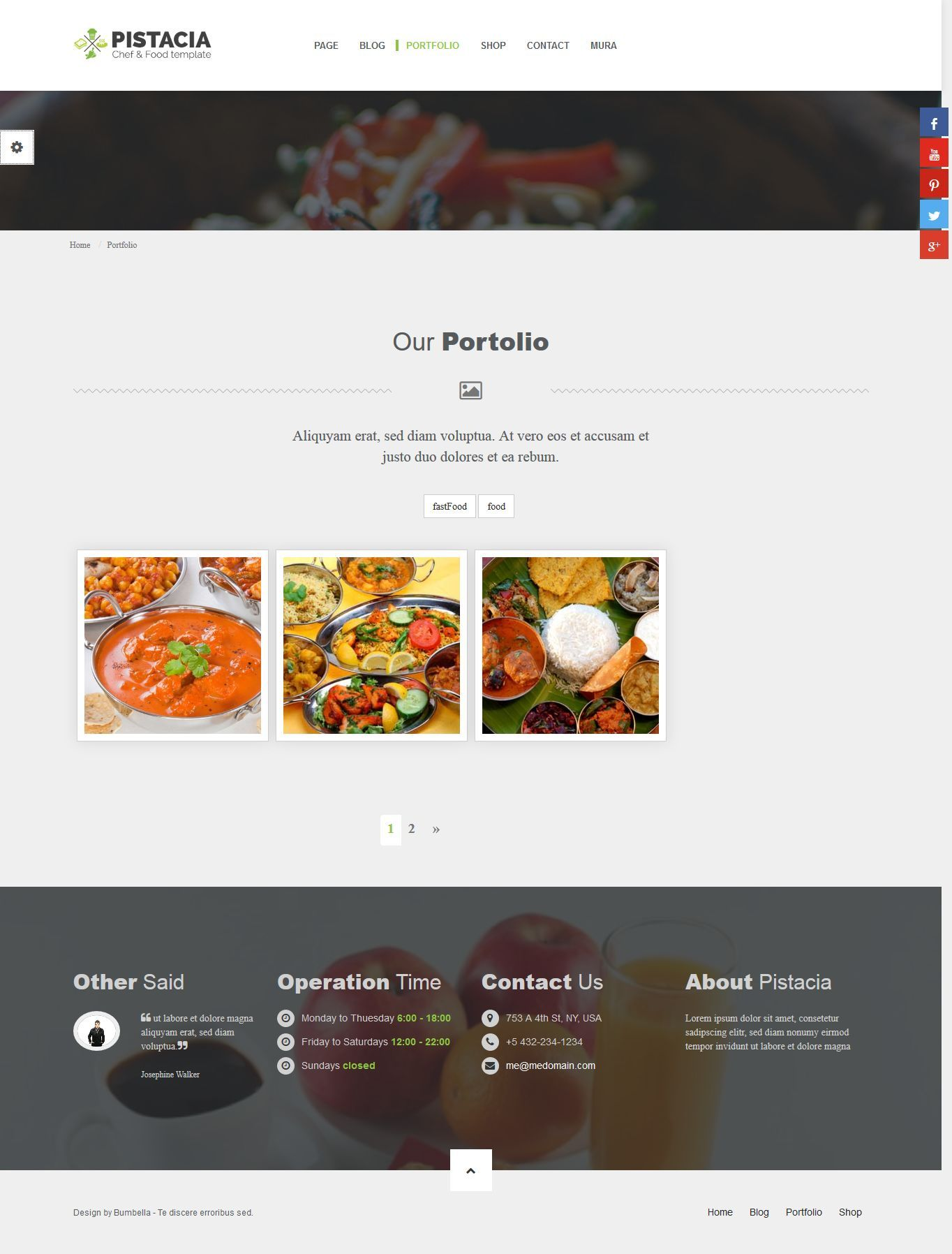 Pistacia Restaurant, Chef & Food MuraCMS theme by mitrahsoft ...