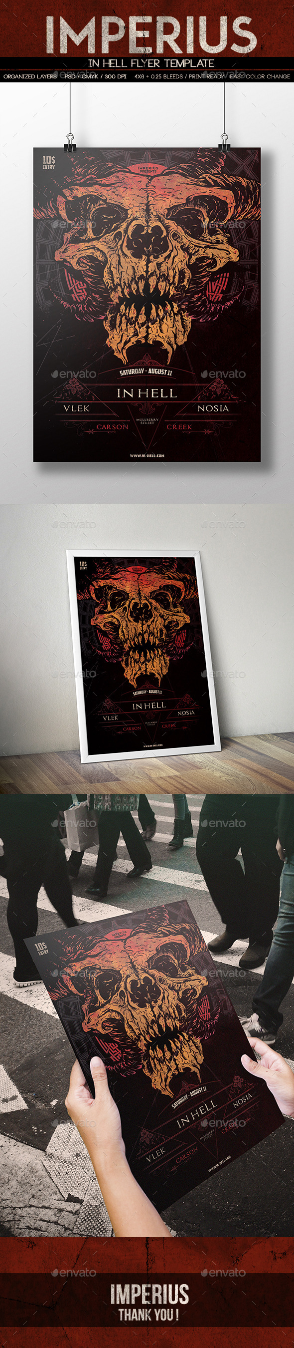 In Hell Flyer - Miscellaneous Print Templates