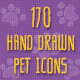 Pet Hand Drawn Icons - GraphicRiver Item for Sale