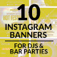 Instagram Banners Party - GraphicRiver Item for Sale