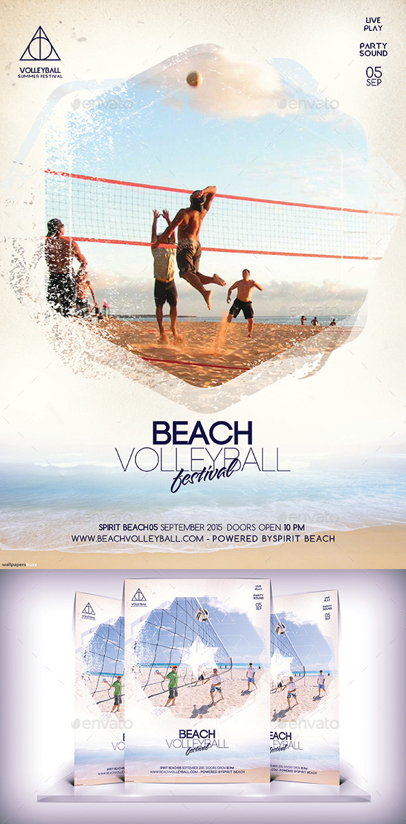 Beach Volleyball Festival Flyer - Flyers Print Templates