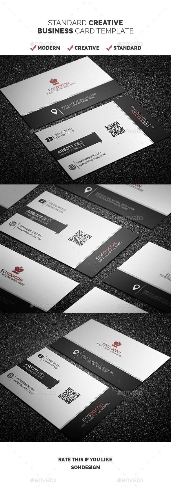 Standard Creative Business Card Template 3 - Creative Business Cards