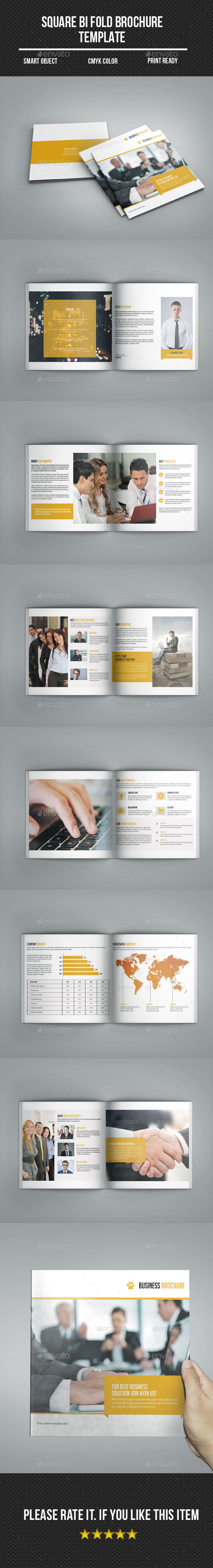 Square Bi- fold Business Brochure - Corporate Brochures