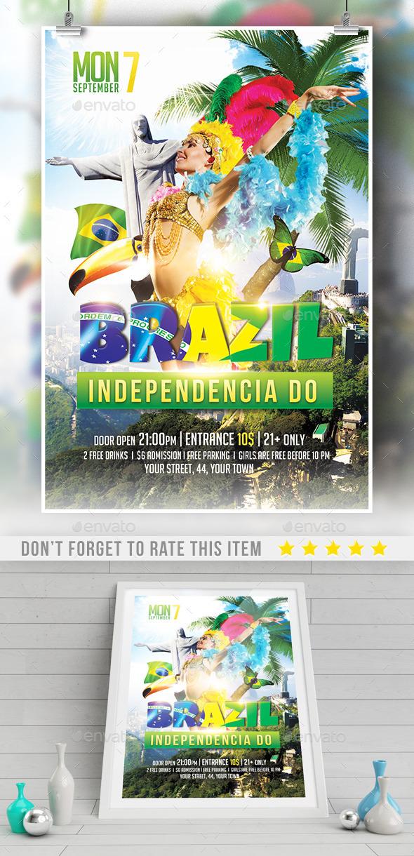 Brazil Indepedencia Do Template - Print Templates