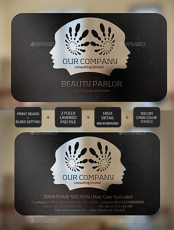 Beauty Transparent Business card - Creative Business Cards