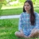 Teen Girl Doing Yoga In The Park. - VideoHive Item for Sale
