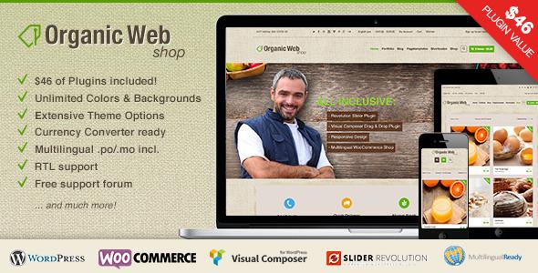 Organic Web Shop – A Responsive WooCommerce Theme