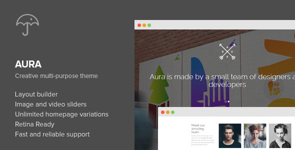 Aura - One Page Creative Multi-Purpose WP Theme