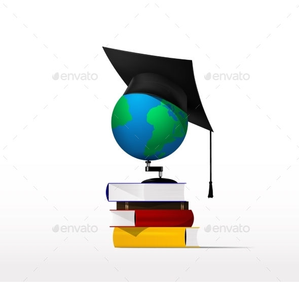 Books and Globe - Miscellaneous Vectors