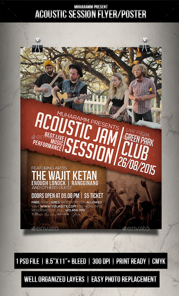 Acoustic Session Flyer / Poster - Events Flyers