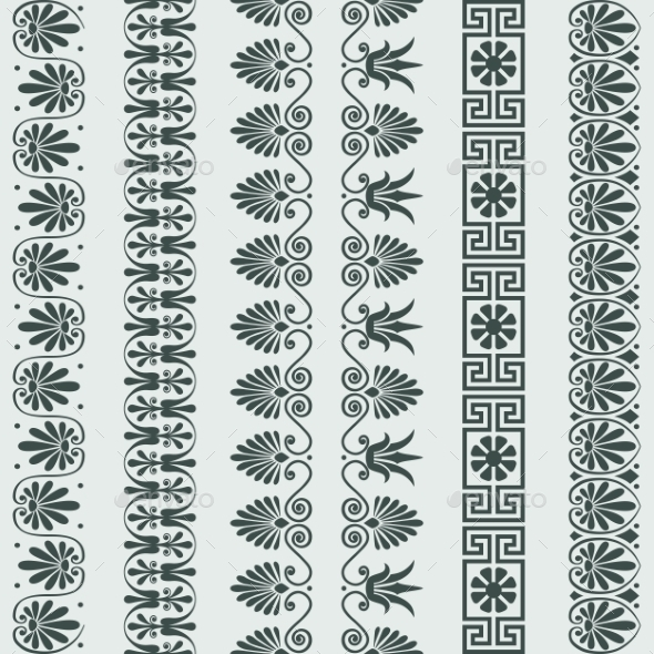 Setof Greek Ornament Meander Borders - Borders Decorative