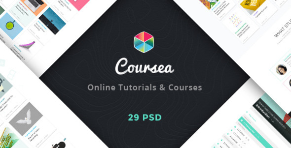 Coursea - Online Tutorials & Courses Template - Miscellaneous PSD Templates