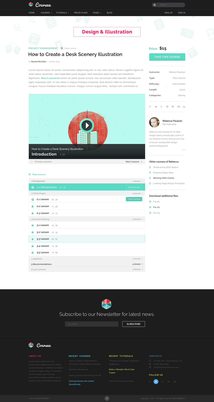 Coursea - Online Tutorials & Courses Template by bestwebsoft ...