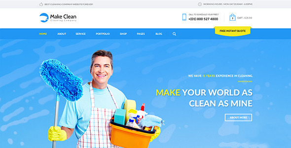 Make Clean - Cleaning Company Muse Template