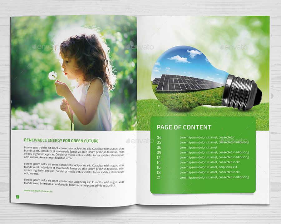 renewable energy brochure by design pick