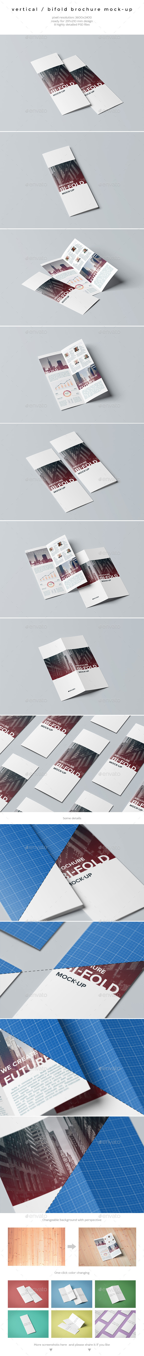 Vertical / Bifold Brochure Mock-Up - Brochures Print
