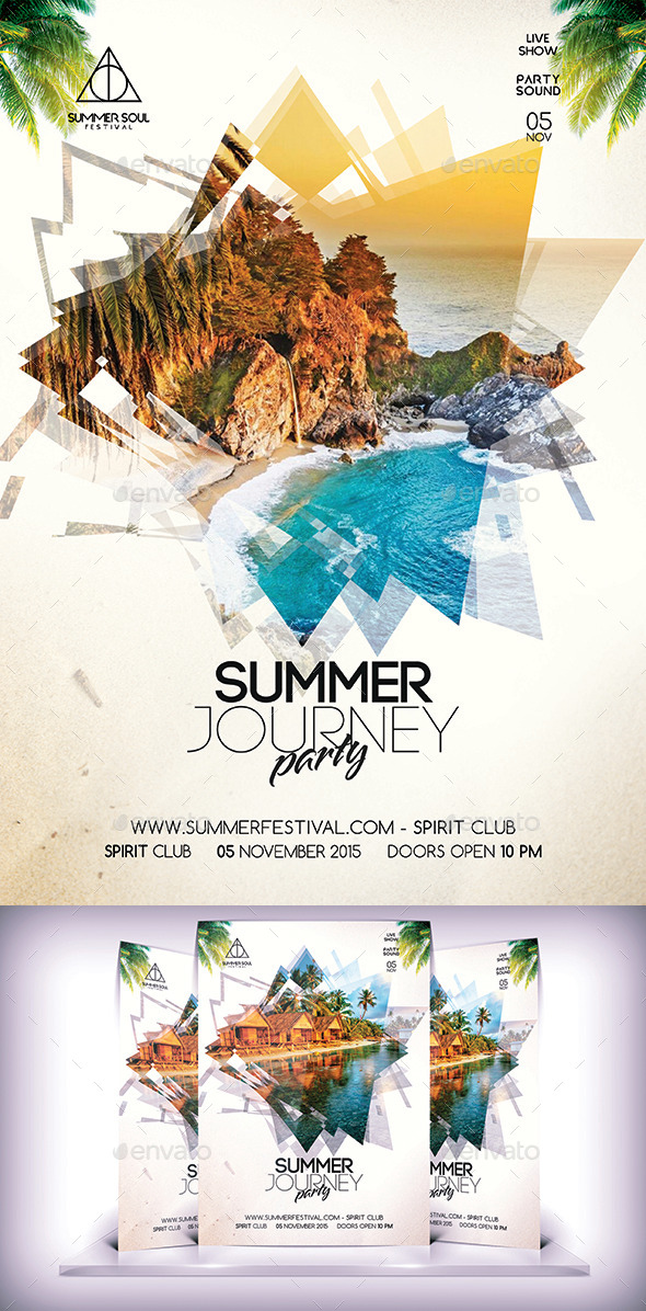 Summer Party Flyer Vol 2 - Flyers Print Templates