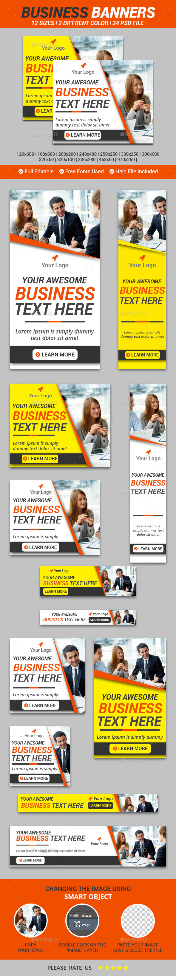 Business Banners v1 - Banners & Ads Web Elements