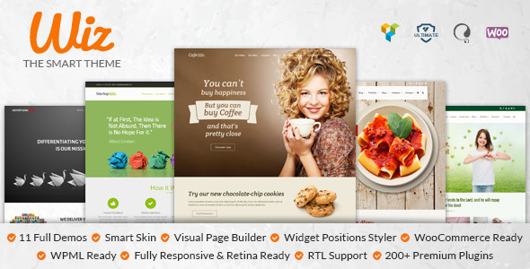 Wiz – The Smart Multipurpose WordPress Theme