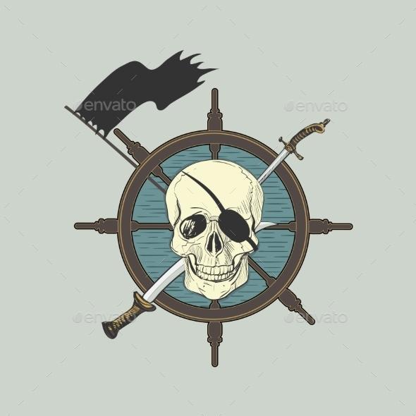 Pirate Label - Tattoos Vectors