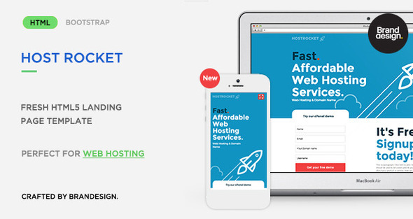 Hostrocket HTML5 Template