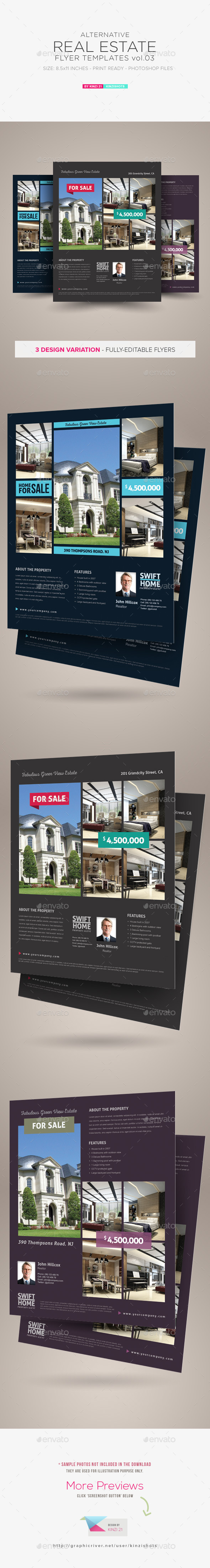Real Estate Flyer Templates vol.03 - Corporate Flyers