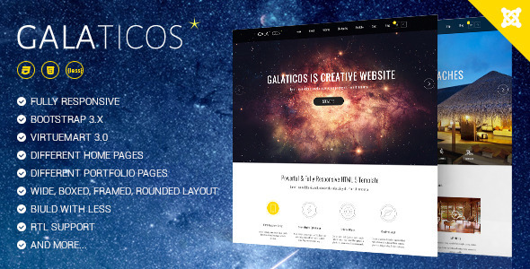 Galaticos - Multipurpose Virtuemart template
