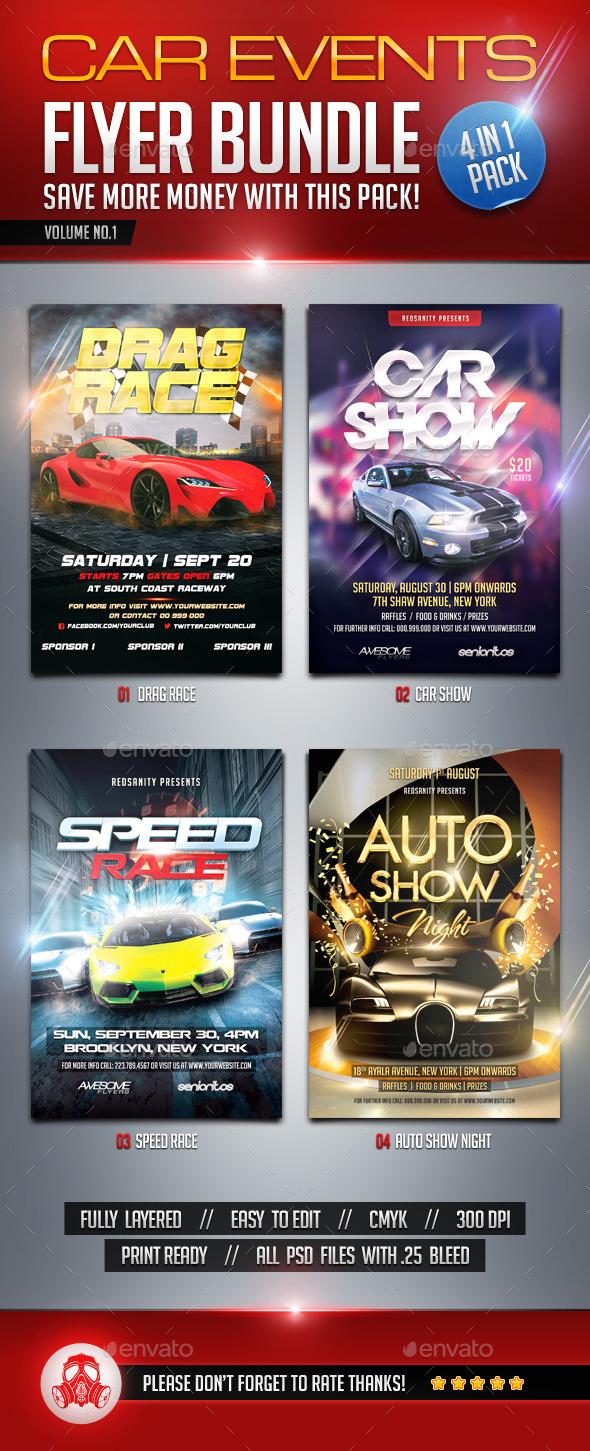 Car Events Flyer Bundle Vol.1 - Events Flyers