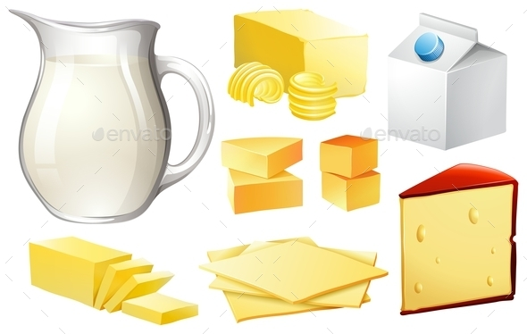 Dairy Products - Food Objects