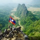 Top Mountain View of Beautiful Limestone Cliff Landscape of Nam Xay Mountains Vang Vieng, Laos - VideoHive Item for Sale