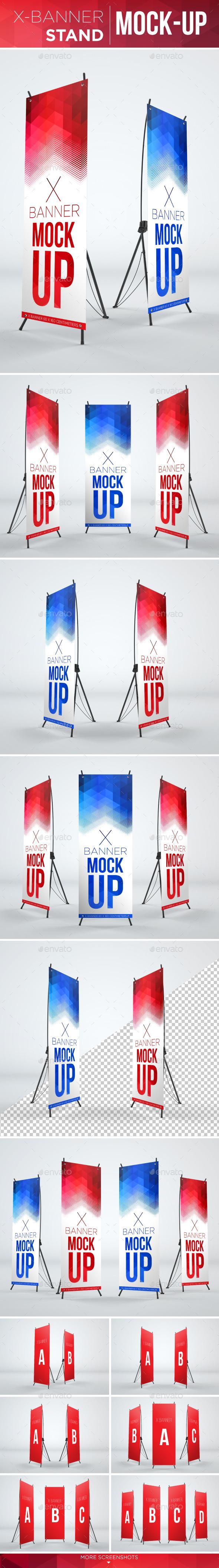 X-Banner Mock-Up - Signage Print