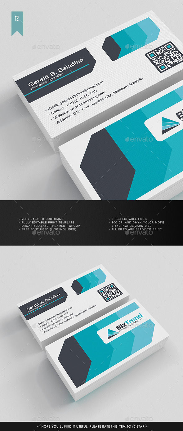 Business Card V.012 - Corporate Business Cards