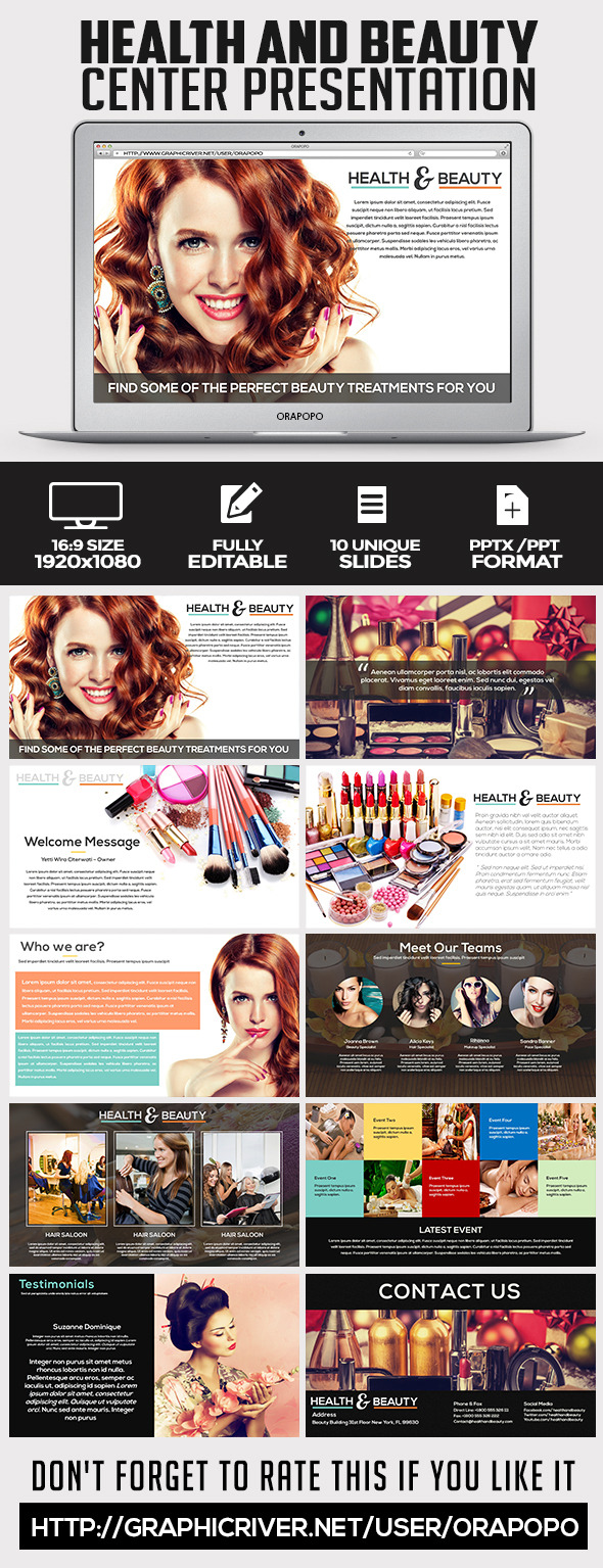 Health and Beauty Center Presentation - Creative PowerPoint Templates