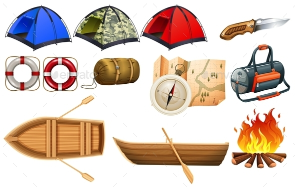 Camping Gears - Man-made Objects Objects