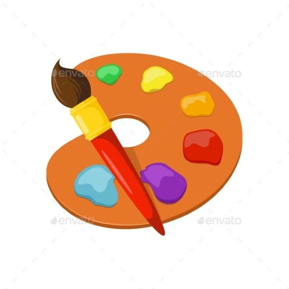 Artist Palette - Decorative Symbols Decorative
