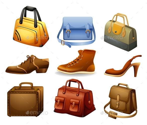 Shoes and Bags - Man-made Objects Objects