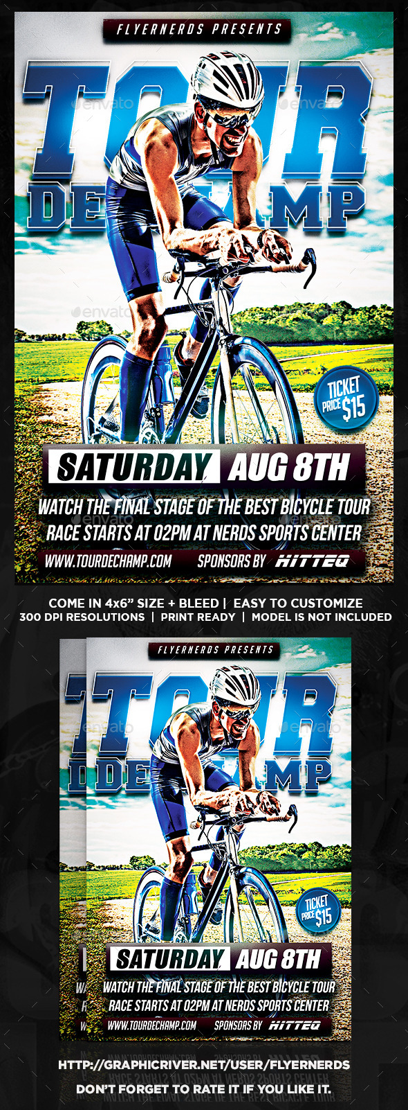 Tour De Champ Bicyle Championships Sports Flyer - Sports Events