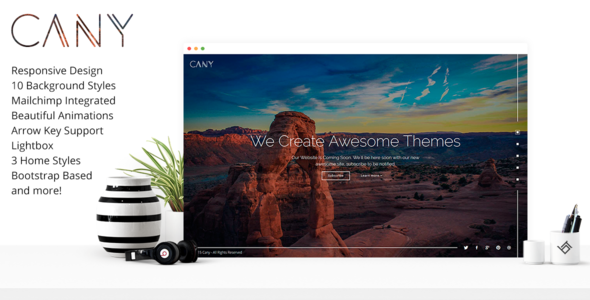 Cany – Responsive Coming Soon Template