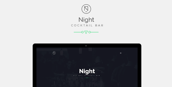 Night | Cocktail Bar / Cafe Bootstrap Template - Restaurants & Cafes Entertainment