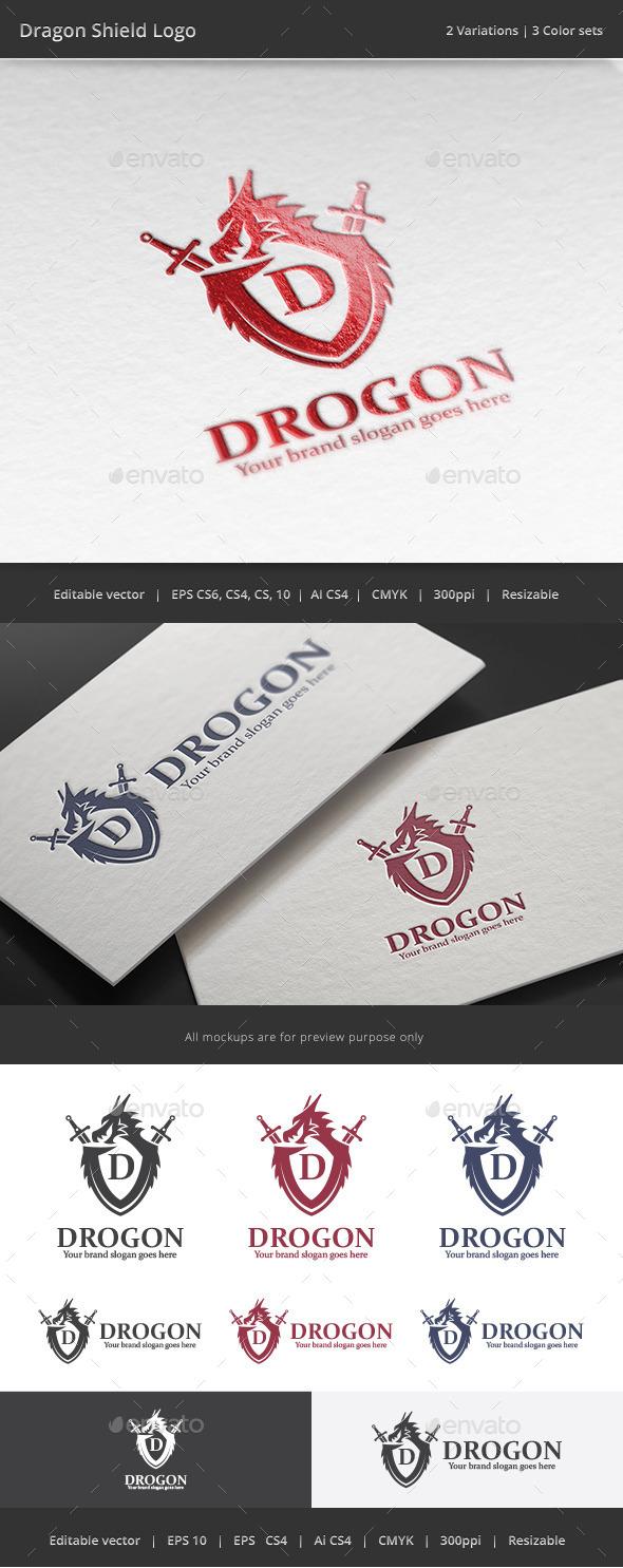 Dragon Shield Logo - Crests Logo Templates
