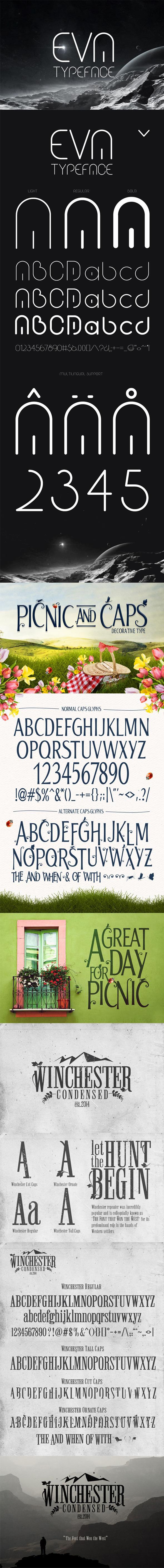 Handmade Fonts Bundle V.2 - Fonts