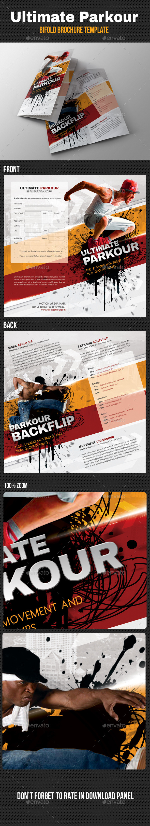 Ultimate Parkour Bifold Brochure - Informational Brochures