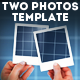 Hands Holding Two Photos Template - GraphicRiver Item for Sale