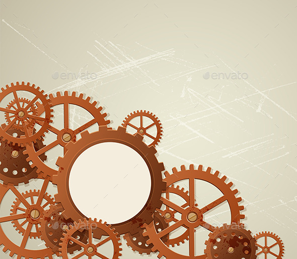 Vector Industrial Background - Industries Business