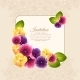 Colorful Elegant Frame Of Naturalistic Flower - GraphicRiver Item for Sale