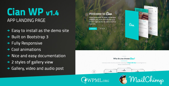 Cian – App Landing Page WordPress