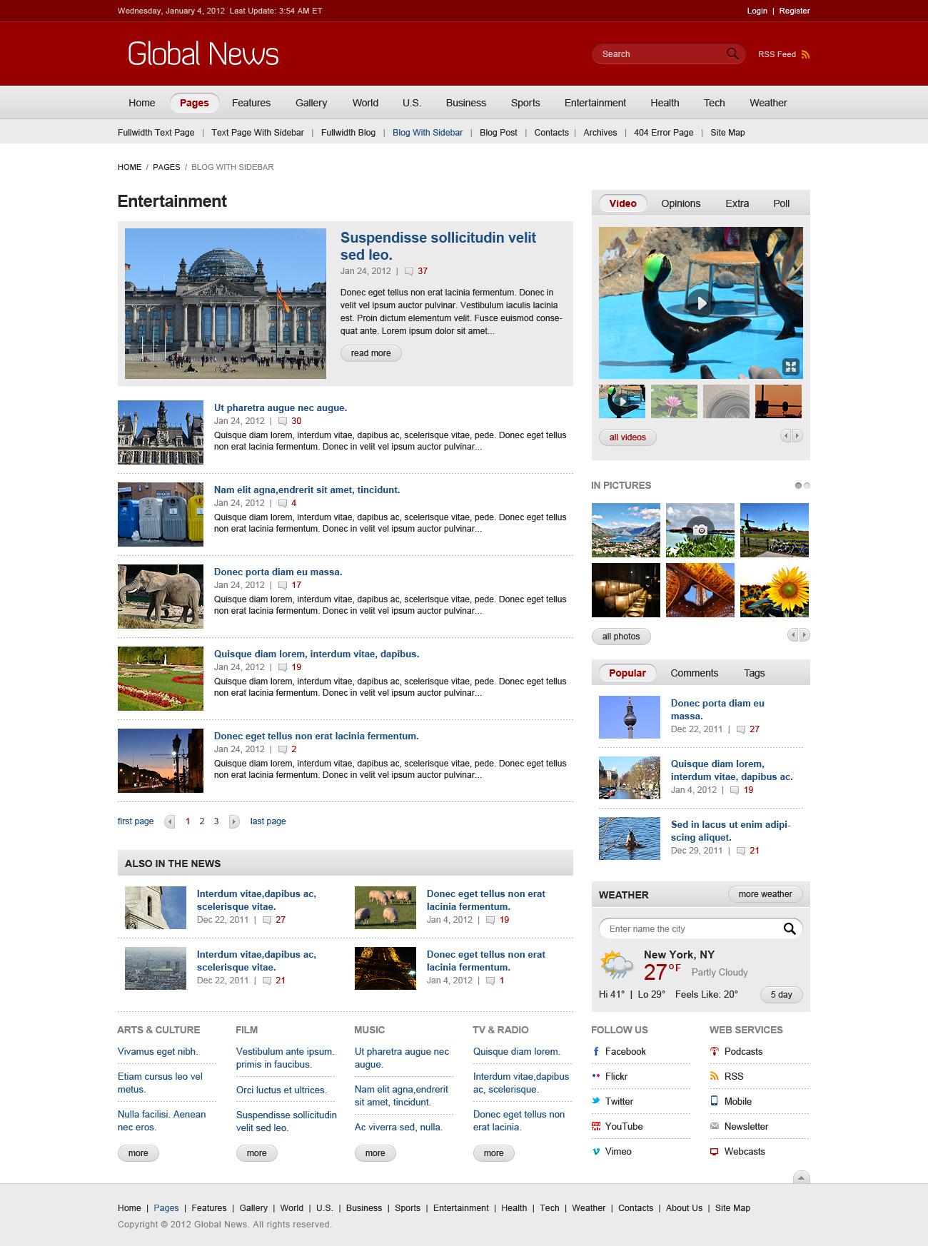 Global News Portal - HTML5 & CSS3 Template by Monkeysan | ThemeForest