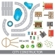 City Constructor. Set Of Urban Elements. Vector. - GraphicRiver Item for Sale