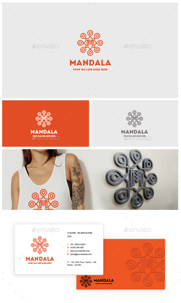 Mandala Logo - Crests Logo Templates